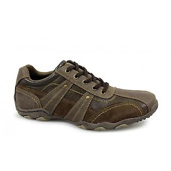 Route 21 Doug heren casual Leisure trainers bruin