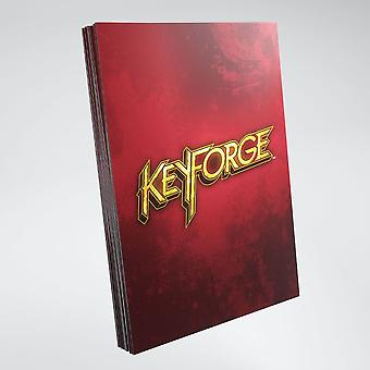 Keyforge Logo Card Sleeves Red (40) Single Pack