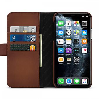 Etui Pour Iphone 11 Pro Max Porte-cartes Marron En Cuir Véritable