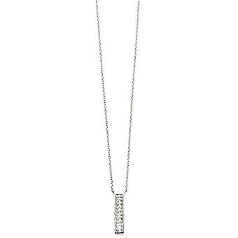 Beginnings Channel Set Bar Necklace - Silver