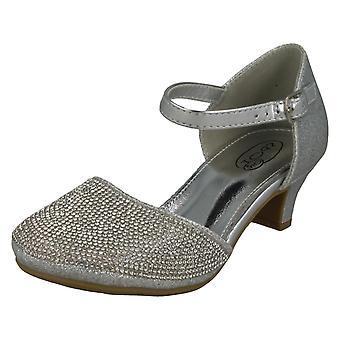 Dievčatá na mieste v polovici päty trblietavé topánky H3082