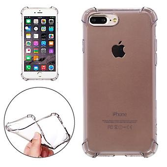 For iPhone 8 PLUS,7 PLUS Case,Shockproof Grip Transparent Shielding Cover,Black