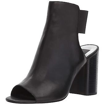 Dolce Vita Womens Rayne Leather Peep Toe Casual Mule Sandals