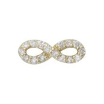 925 Sterling Argent 14k Gold Plated Single Mate CZ Cubic Zirconia Simulated Diamond Infinity Stud Boucles d'oreilles Bijoux Bijoux Cadeaux