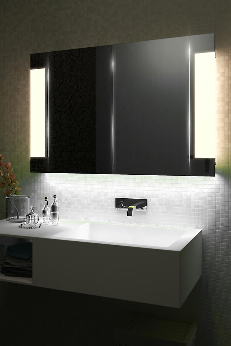 Auto Colour Changing Demist Cabinet With Shaver & Sensor k1502irgb