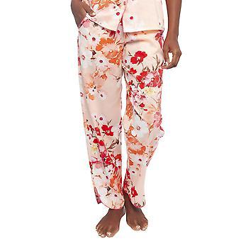 サイバージャミーズ 4425 女性's ダルシーコーラルオレンジフローラルプリントコットンパジャマパンツ