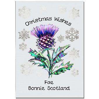 Embroidered Originals Thistle Christmas Card