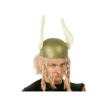 Wigs  Wig and mustache blond asterix gallic