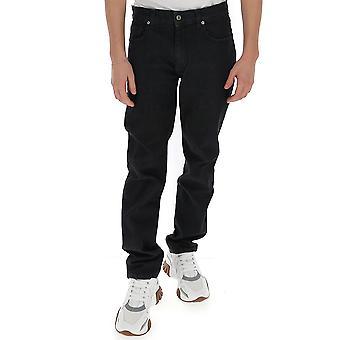 Moschino 03292024a0555 Men's Black Cotton Jeans