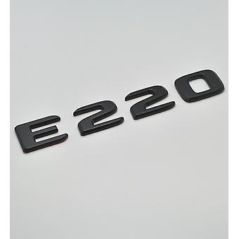Matt Black E220 Flat Mercedes Benz Car Model Rear Boot Number Letter Sticker Decal Badge Emblem For E Class W210 W211 W212 C207/A207 W213 AMG