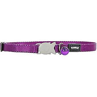 Red Dingo Smooth Purple Cat Collar Baby 8Mm - 16-26Cm