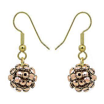 Rose Gold Crystal Mesh Ball Ohrringe EMB112.12