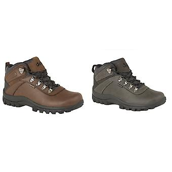 Dek Mens Derwent PU Suede Leather Padded Laced Ankle Walking Boot