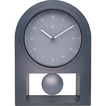 nXt - Table clock - 30 x 20 cm - Plastic - Grey - 'Swing Table'