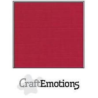 CraftEmotions linen cardboard 10 Sh Christmas red 27x13,5cm  250gr  / LHC-07