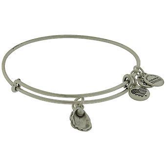 Alex and Ani Oyster and Pearl Bangle Bracelet - Rafaelian Silver - A17EBOYSRS
