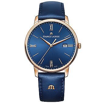 Maurice LaCroix Eliros Blue Leather Gold PVD Steel Case Ladies Watch