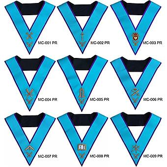 Masonic memphis misraim officer collars hand embroidered