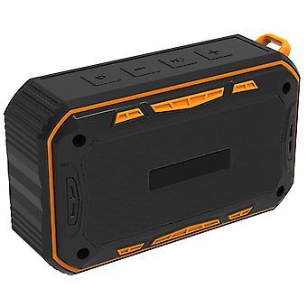 Sportlich wasserabweisender Bluetooth-Lautsprecher-Orange