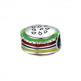 Sterling Silver Charm I Love Hamburgers - 5407