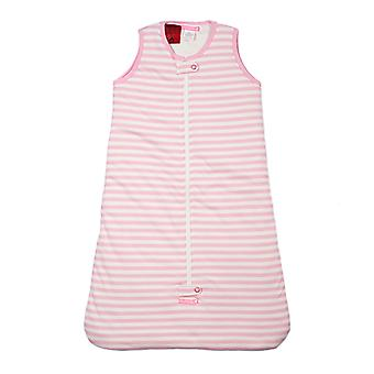uh-oh! Sleeveless Baby Sleeping Bag with a 2.5 tog Warmth Rating Pink Stripe