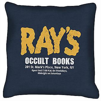 Rays Occult Books Ghostbusters Cushion
