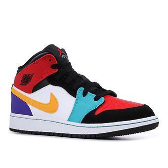 Air Jordan 1 meados (Gs) - 554725 - 125 - sapatos