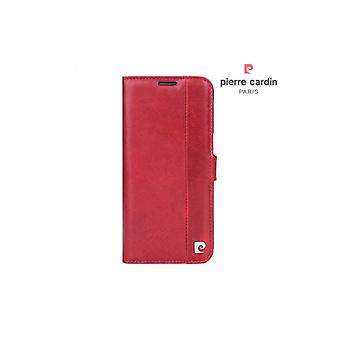 Pierre Cardin Leather Bookcase Case Samsung Galaxy S7 Edge - Rouge