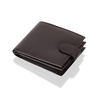 "Bi Fold 4.5"" RFID Multi Pocket Wallet With Coin Pocket - Black"