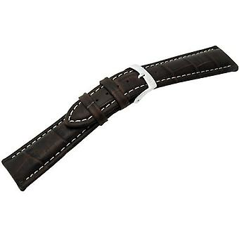 Morellato leather strap 22 mm Brown PLUS A01U3252480032CR22 man