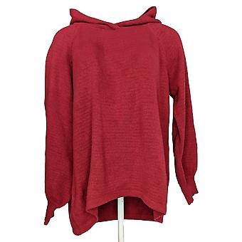 Anybody Women's Sweater Sweater Knit Pullover Hoodie Dark Red A372140