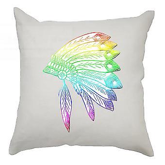 Colourful Cushion Cover 40cm x 40cm Headdress