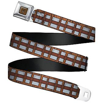 Children's Star Wars Chewbacca Bandolier Seatbelt Buckle Web Belt (20-36