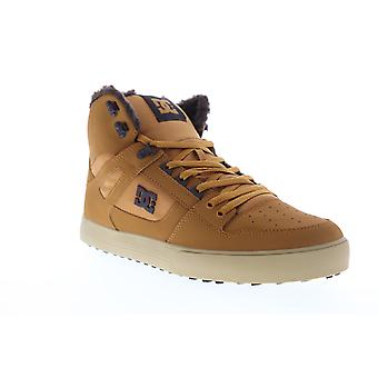 DC Pure HT WC SE  Mens Brown Nubuck Leather Athletic Skate Shoes