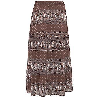 b.young Paisley Print Maxi Skirt