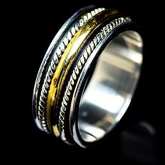 Meditation Spinner Ring Size 6.5 (925 Sterling Silver)  - Handmade Boho Vintage Jewelry RING5676