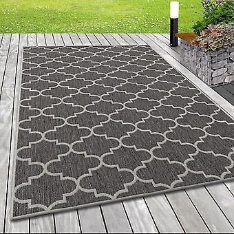 In- & Utomhus platt tyg matta sisal optik Marockansk design beige grädde