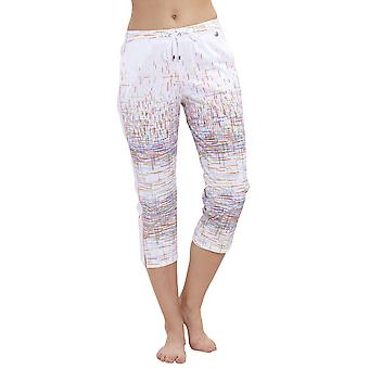 Féraud 3191268-16371 Women's Casual Chic White Multicolour Stripe Cotton Pyjama Pant