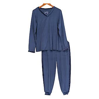 Anybody Women's Pajama Set Cozy Knit Blue A345311