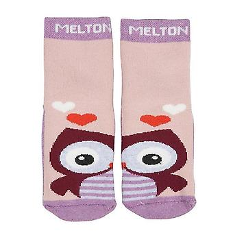 Melton owl abs non-slip slipper socks