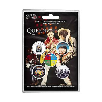 Queen Badge Pack senare album ett slags magi band logo nya officiella 5-pack