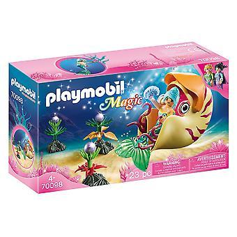 Playmobil 70098 Magische Meerjungfrau mit Seeschnecke Gondel