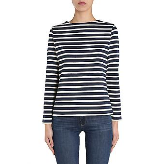 Saint James 413551marineecru Women's Blue Cotton Sweater
