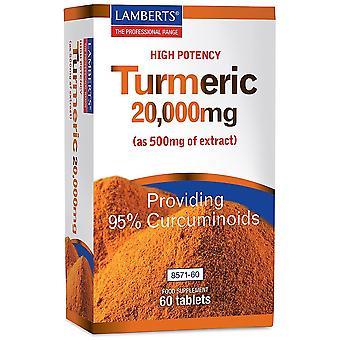 LAMBERTS turmeric 20000mg tabletit 60 (8571-60)