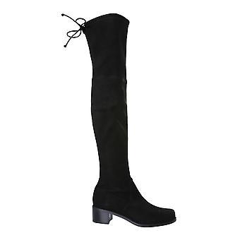 Stuart Weitzman Midlandsusblk Women's Black Leather Boots