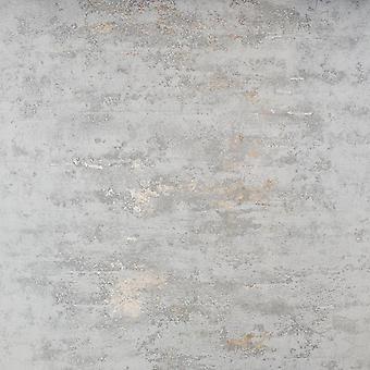 Industrial Stone Concrete Brick Wallpaper Paste The Wall Grey Metallic Bronze