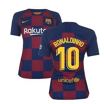 2019-2020 Barcelona Home Nike Ladies Shirt (RONALDINHO 10)