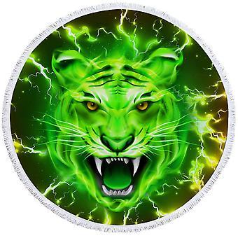 Kirkkaan vihreä tiikeri ranta pyyhe