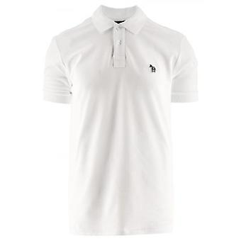 Chemise polo à manches courtes blanches Paul Smith