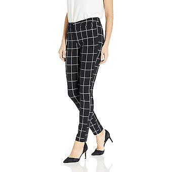Essentials Women's Skinny Pant, Black Windowpane, 8 Short